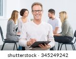 delighted with results. content ... | Shutterstock . vector #345249242