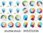 vector circle infographics.... | Shutterstock .eps vector #345251036