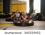 group of people is driving go...   Shutterstock . vector #345255452