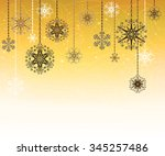 christmas design with... | Shutterstock .eps vector #345257486