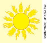 the yellow sun with beautiful... | Shutterstock .eps vector #345261452