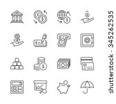 money and finance icons set... | Shutterstock .eps vector #345262535
