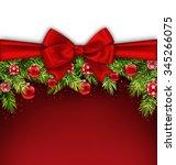 illustration christmas postcard ... | Shutterstock .eps vector #345266075