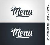 menu word hand lettering....
