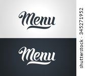 menu word hand lettering.... | Shutterstock .eps vector #345271952