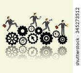 conceptual web illustration of ...   Shutterstock .eps vector #345273512