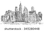 hand drawn city | Shutterstock . vector #345280448