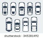 vector set of cars   top view | Shutterstock .eps vector #345281492