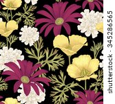 vector seamless pattern with... | Shutterstock .eps vector #345286565