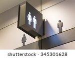 symbol of a public toilet | Shutterstock . vector #345301628