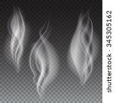 white smoke waves on...   Shutterstock .eps vector #345305162
