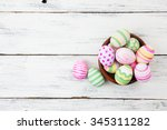 Easter Eggs Painted In Pastel...