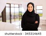 portrait of pretty muslim woman ...   Shutterstock . vector #345314645