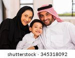 happy muslim family spending... | Shutterstock . vector #345318092