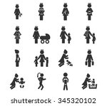 family symbol for web icons | Shutterstock .eps vector #345320102