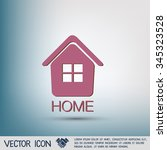 house icon. home sign   Shutterstock .eps vector #345323528