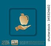 hand holding apple | Shutterstock .eps vector #345324602