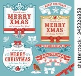 christmas design elements | Shutterstock .eps vector #345326858