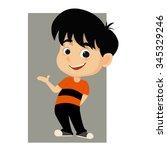 kid welcome .vector...   Shutterstock .eps vector #345329246