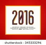 happy new year 2016 title.... | Shutterstock .eps vector #345333296