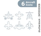 plane icons set. vector. | Shutterstock .eps vector #345333308