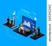 vector illustration of the... | Shutterstock .eps vector #345342242