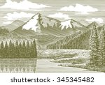 woodcut style illustration of a ... | Shutterstock .eps vector #345345482