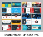 set of modern creative and... | Shutterstock .eps vector #345355796