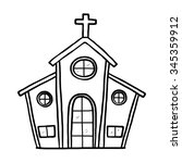 church   cartoon vector and... | Shutterstock .eps vector #345359912