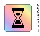 hourglass   vector icon | Shutterstock .eps vector #345367985
