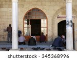 Small photo of ADANA,TURKEY-NOVEMBER 4:People praying at Yag Camii mosque during lunch time.November 4,2015 in Adana,Turkey.