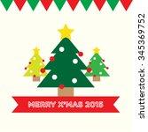 christmas tree set | Shutterstock .eps vector #345369752