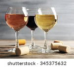 Composition Of Wine Glasses An...