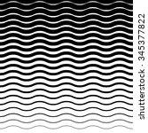 wavy  zig zag horizontal lines. ... | Shutterstock .eps vector #345377822