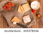salty cracker biscuit with...