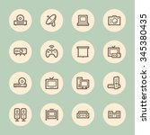 electronic appliances web icons | Shutterstock .eps vector #345380435