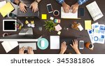 group of business people... | Shutterstock . vector #345381806