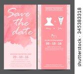 wedding invitation card ... | Shutterstock .eps vector #345383318