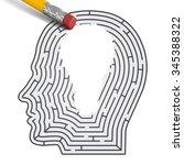 concept of idea. labirint in...