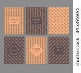 modern abstract linear seamless ... | Shutterstock .eps vector #345393692