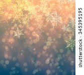 christmas snowflakes background ... | Shutterstock . vector #345395195