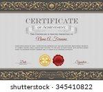vintage certificate of... | Shutterstock .eps vector #345410822