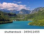 Lago Di Cavazzo In Alps