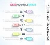 vector timeline briht template... | Shutterstock .eps vector #345418112