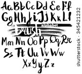 vector alphabet. hand drawn... | Shutterstock .eps vector #345421232