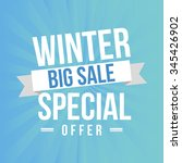 winter sale design  vector... | Shutterstock .eps vector #345426902