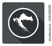 croatia map dark sign icon....
