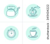 vector illustration in trendy... | Shutterstock .eps vector #345434222