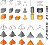 vector geometric shapes | Shutterstock .eps vector #34543585