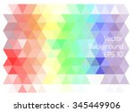 abstract triangle geometrical... | Shutterstock .eps vector #345449906